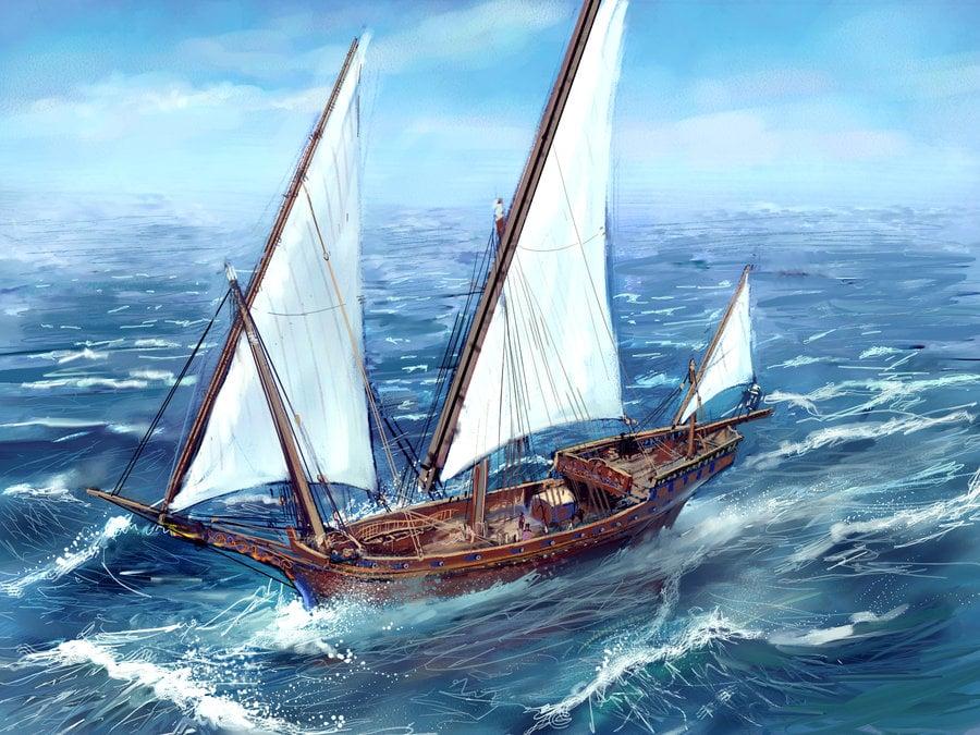 O Arado do Mar Sallas_escort_ship_by_MarcSimonetti