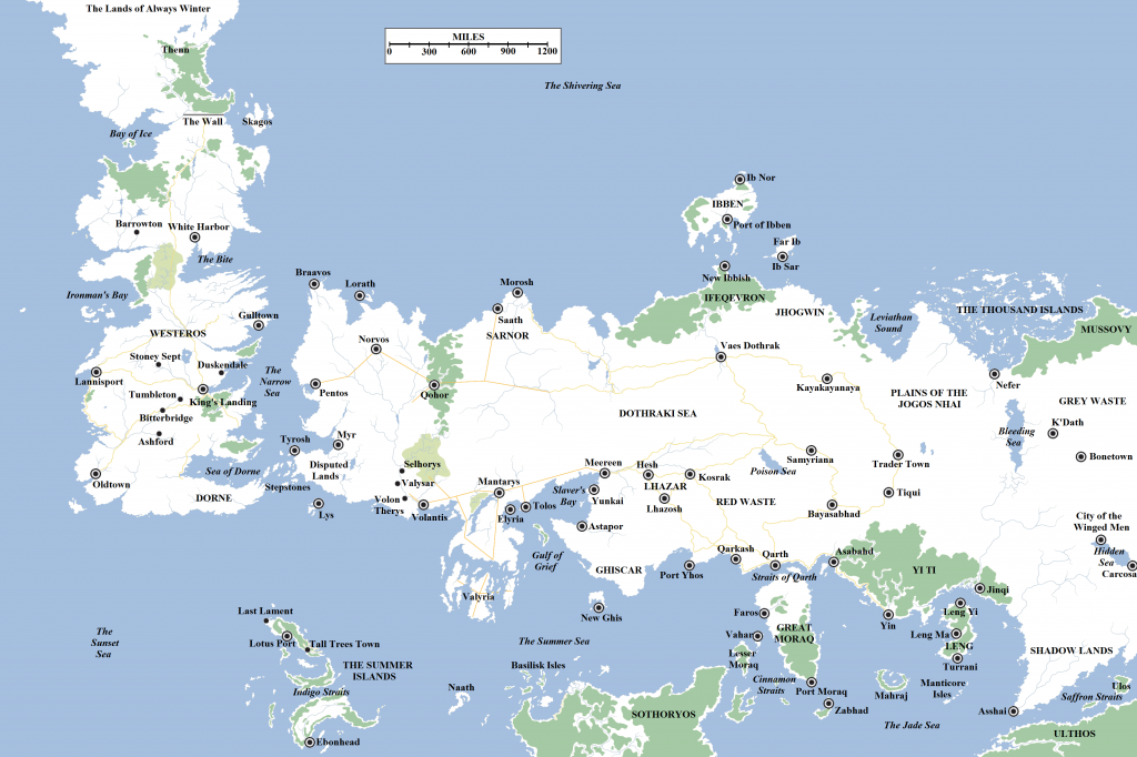 No spoilers I know there are a lot of Westeros maps around internet but th