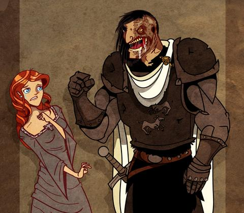 File:Sansa and the hound by sir heartsalot.jpg