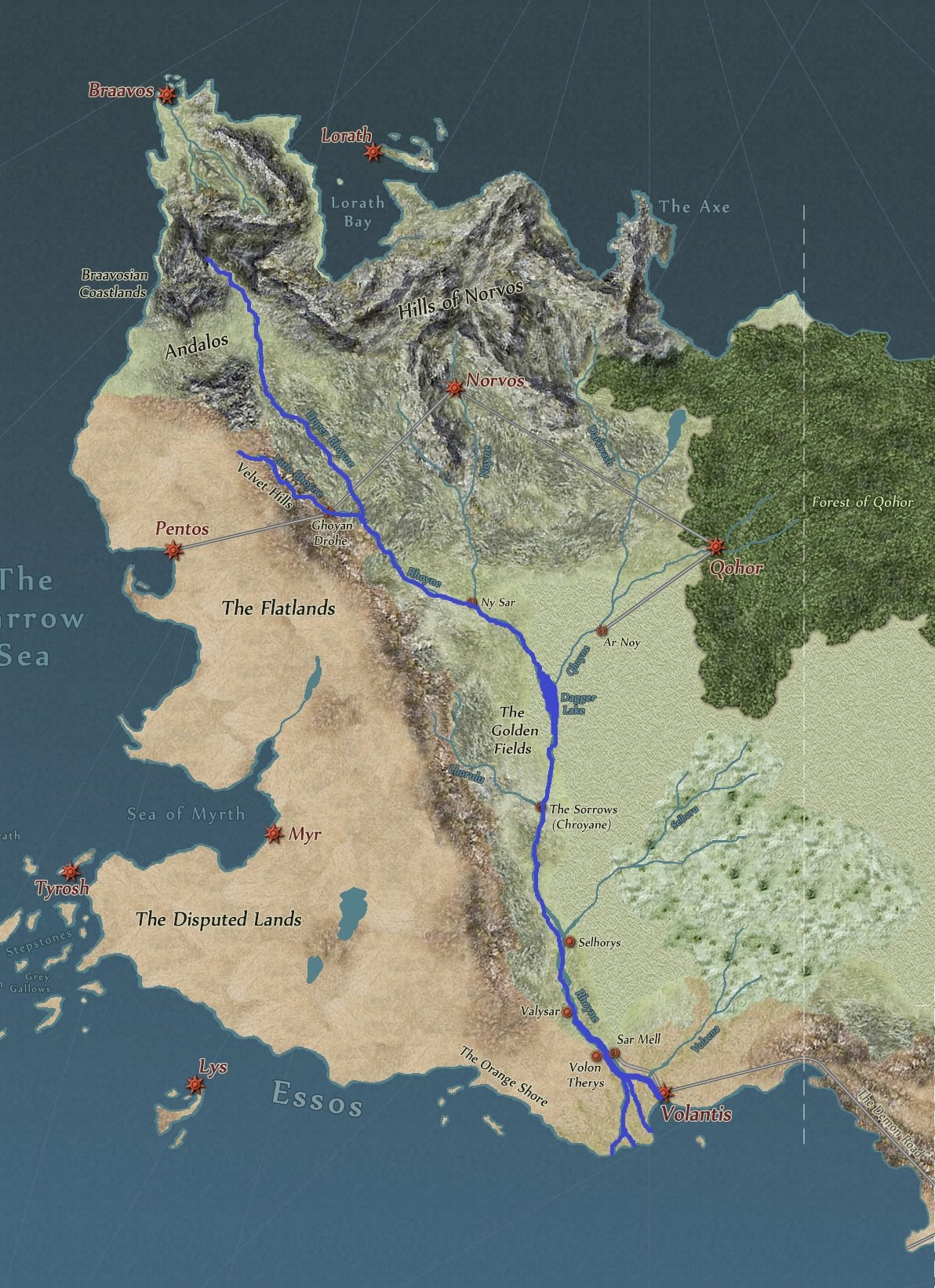 song of ice and fire map with Rhoyne on Favorite Maps Top 5 Wednesday moreover WHITE HARBOR Hand Drawn Westeros Map Detail 538131995 likewise 1112781 Match The Map To The Book as well Page 193 furthermore Baelor Targaryen  son of Daeron II.