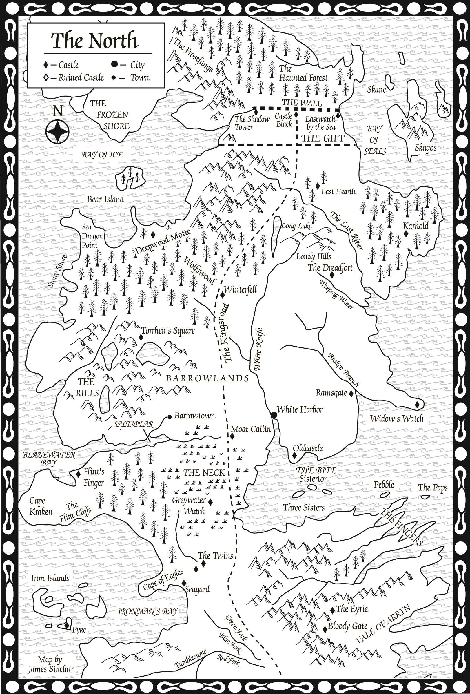 A Feast for CrowsMap of the North  A Wiki of Ice and Fire