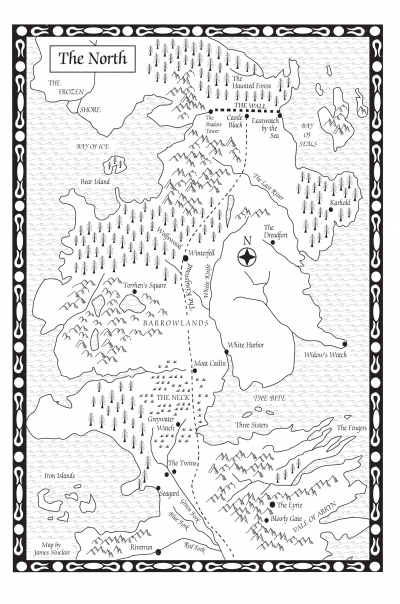 A Game of ThronesMap of the North  A Wiki of Ice and Fire