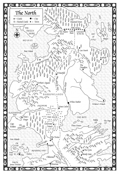 A Clash of Kings Map of the North A Wiki of Ice and Fire