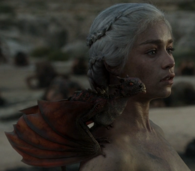 File:Daenerys with Dragon.png