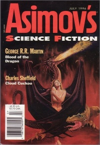 Blood of the Dragon in Asimov's July 1996 Cover art by Paul Youll