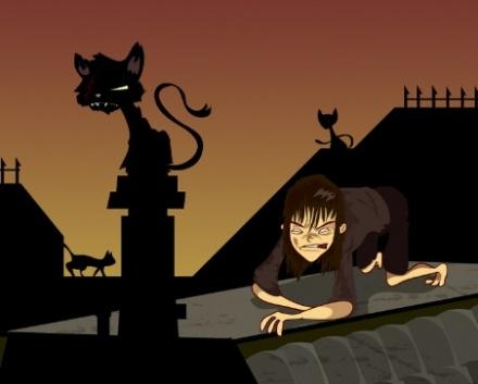 Game Of Thrones Arya Chasing Cats