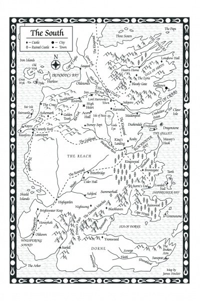 A Storm Of Swords Map Of The South A Wiki Of Ice And Fire