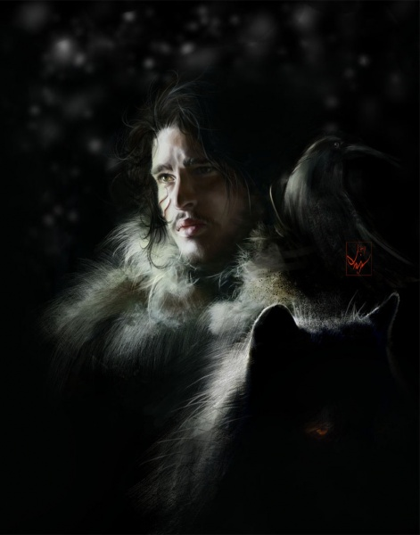 File:Jon Snow by AniaEm.jpg