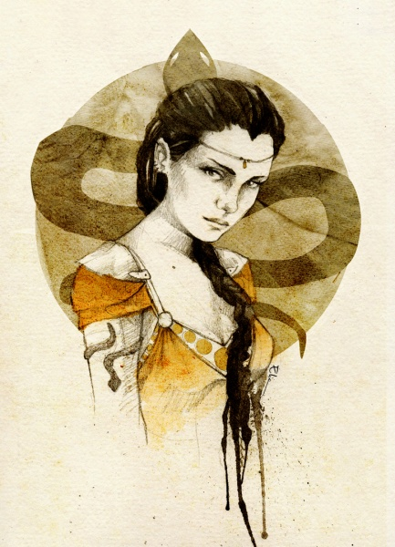 File:Nymeria sand by elia illustration-d5gu94l.jpg