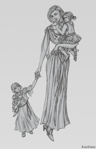 File:Laena velaryon and her daughters by linavasya.jpg