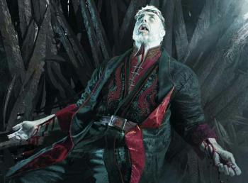 350px Michael KomarckMaegorIdiesonthethrone - بدترین شاهان تاریخ که بر تخت آهنین نشستند