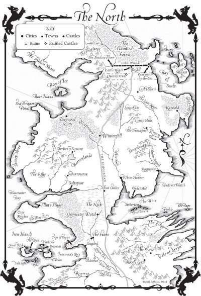 A Dance with DragonsMap of the North  A Wiki of Ice and Fire