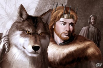 Grey Wind and King Robb - by Amok ©