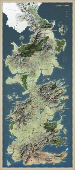 MAP OF WESTEROS - FreeTemplate