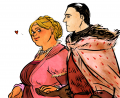 Fat walda and her hubby by jubah.png