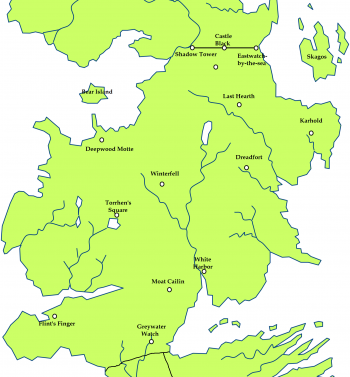 The North and the location of Winterfell