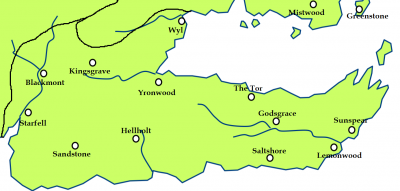 Dorne and the location of Ghost Hill