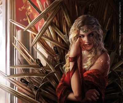 After Tywinu0027s Death Cersei Resumed Her Regency, Now Over The Newly Crowned  Tommen I   By Magali Villeneuve. © Fantasy Flight Games