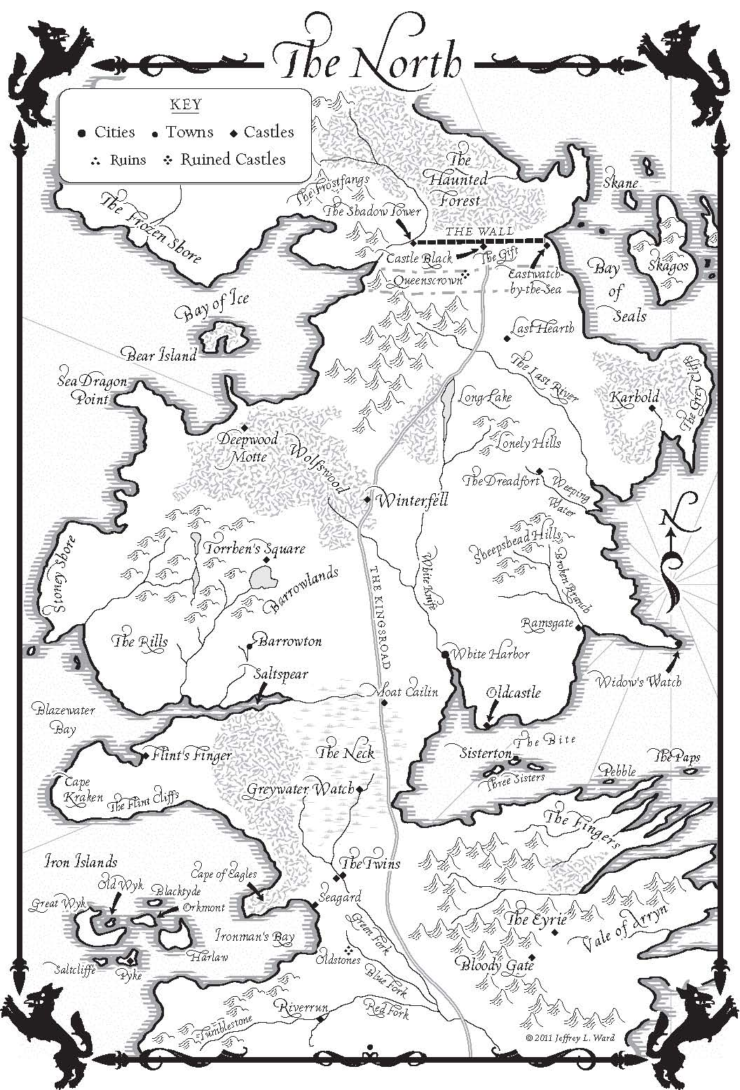 A Dance With Dragons Map Of The North A Wiki Of Ice And Fire