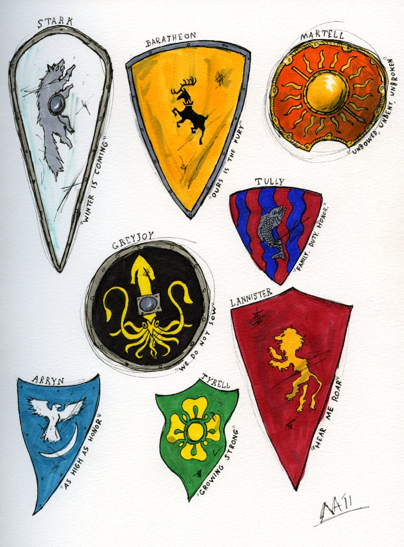 Heraldry A Wiki Of Ice And Fire