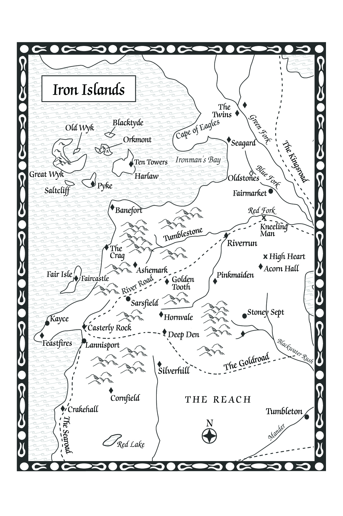 a feast for crows-map of the iron islands