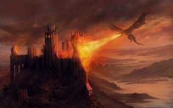 Image result for images of dragons burning city