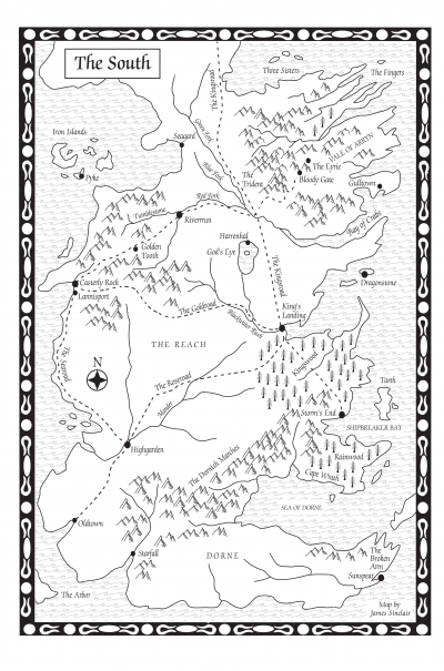 picture about Game of Thrones Printable Map named A Sport of Thrones-Map of the South - A Wiki of Ice and Fireplace