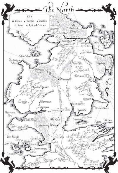 A Dance with Dragons-Map of the North - A Wiki of Ice and Fire on map of house stark, map of dragons, map of journeys, map of ice and fire, map of alagaesia, map of narnia, map of the lands beyond, map of federal district mexico city in, map of the undying lands, map recreated game of thrones, map of oz, map of prydain,