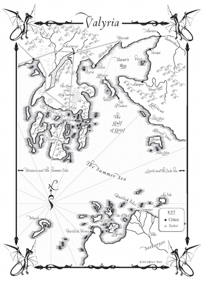 A Dance with Dragons-Map of Valyria - A Wiki of Ice and Fire on