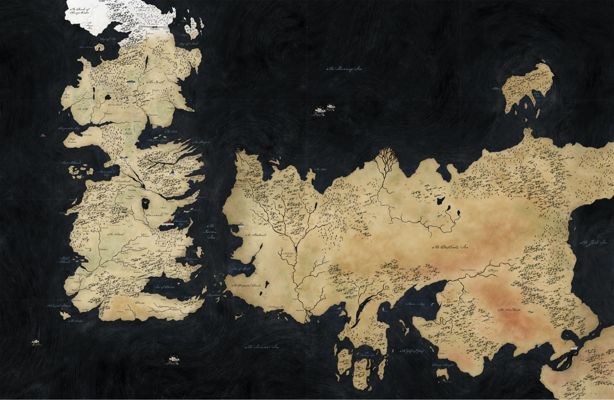 World Map (HBO Game Of Thrones)   A Wiki of Ice and Fire